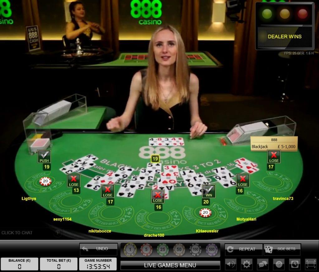 888 Live Casino Dealer