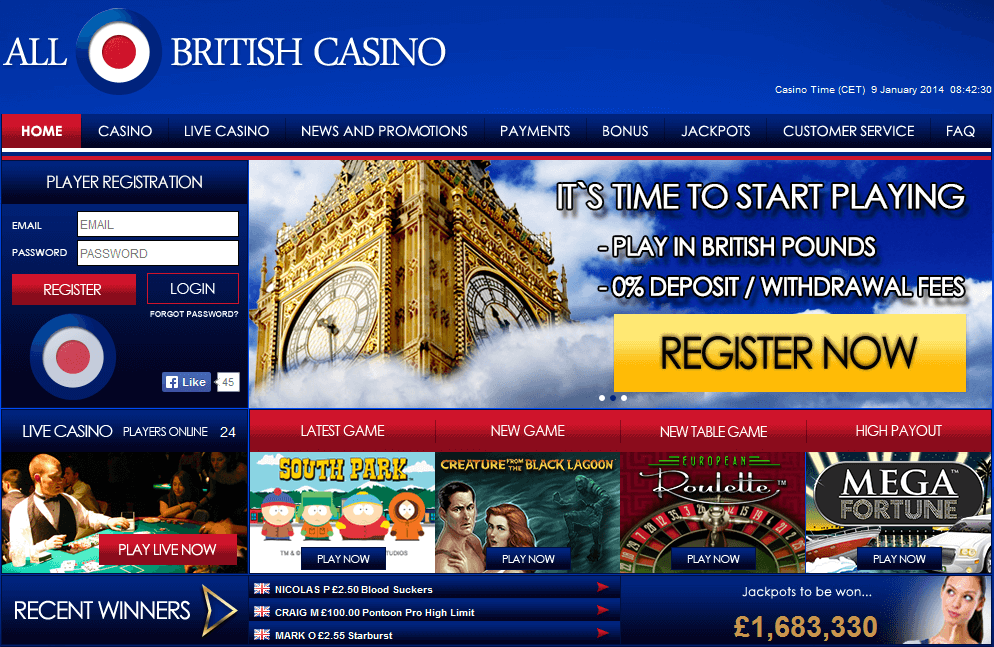 All British Casino Live Dealer