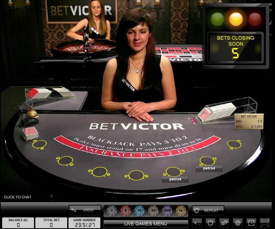 Bet Victor Live Casino Dealer
