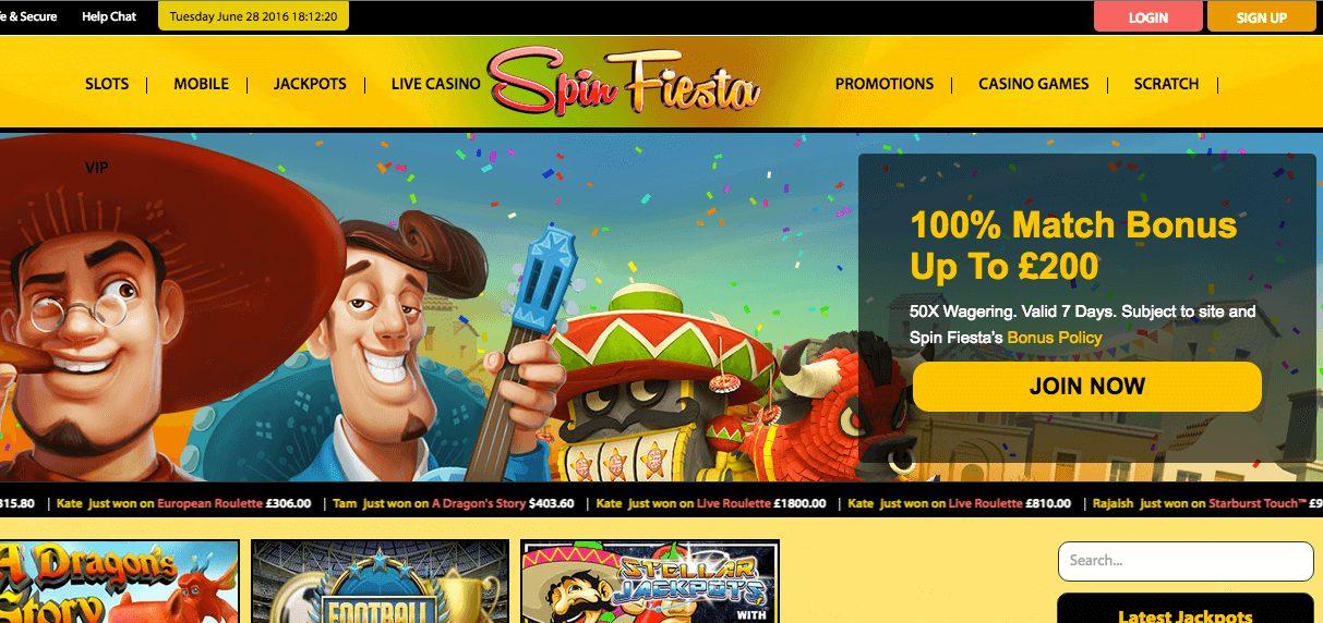 Spin Fiesta Live Casino