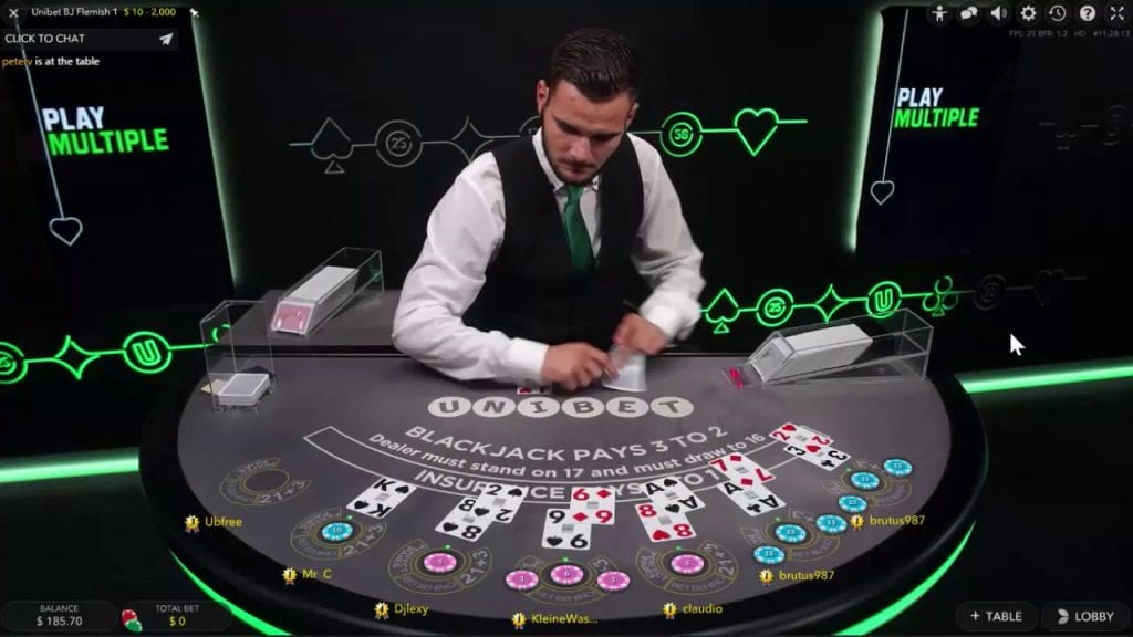 Unibet Live Casino Blackjack Dealer
