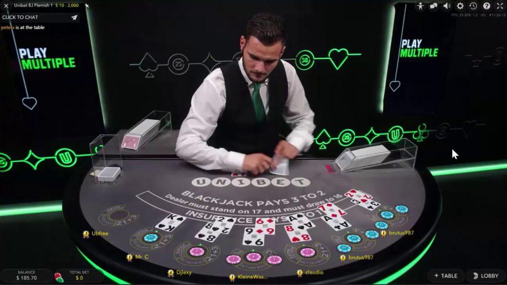 Unibet Live Casino Blackjack Dealer