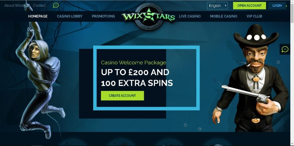 WixStars Live Casino UK