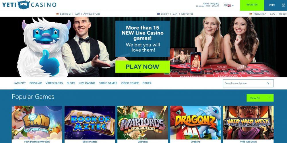 Yeti Casino Live Dealer