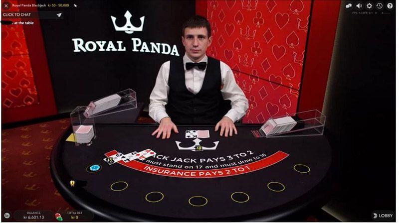 Royal Panda Live Casino Blackjack Dealer