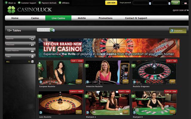 Casinoluck live dealer