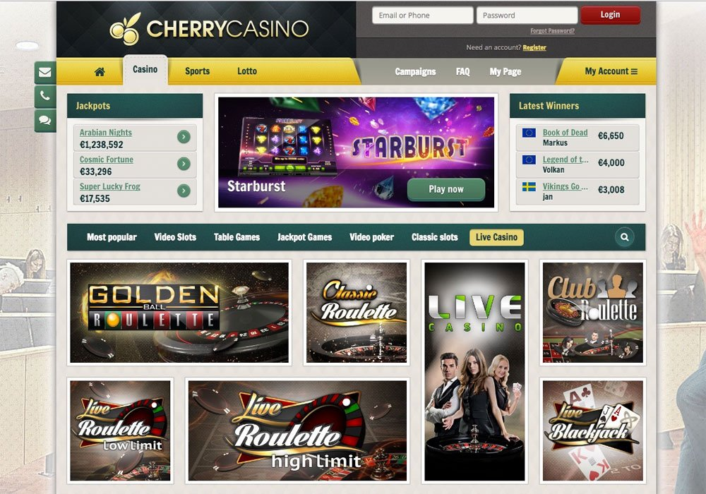 Cherry Live Casino UK