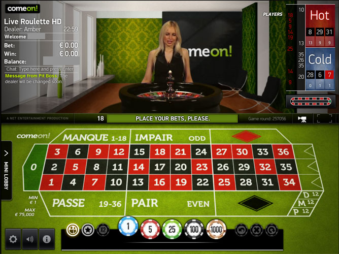 Comeon live casino uk