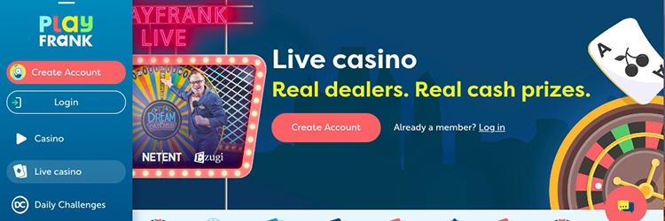 Play Frank Live Casino